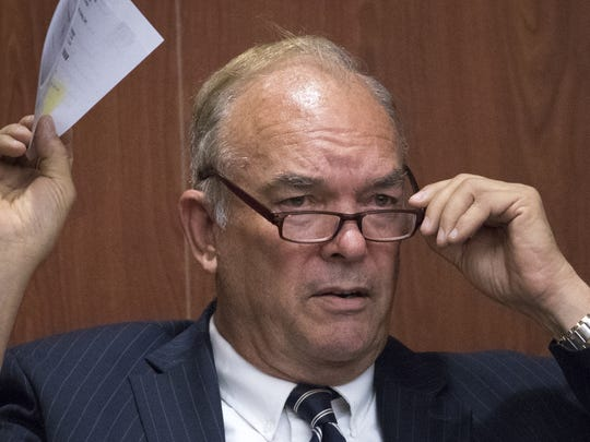 Don Shooter testifies during a hearing on June 14,