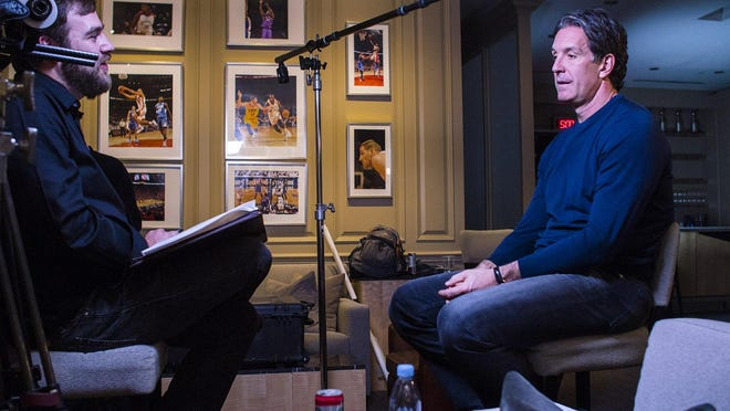 """Filmmaker Joshua Riehl interviews former Red Wing left wing Brendan Shanahan for his documentary """"The Russian Five."""""""