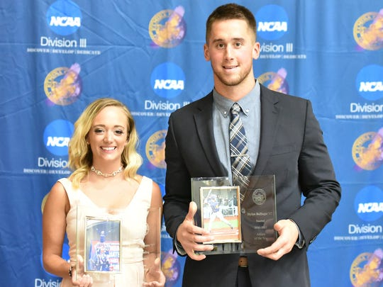 Elmira College Athletes of the Year Katelyn Moore and