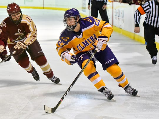Katie Granato of Elmira College was among the top scorers for in NCAA Division III last season and this season.