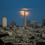 Moon over San Francisco: This was taken in late August 2015 ago from the Presidio in San Francisco. The photo was submitted to USA TODAY via Your Take at yourtake.usatoday.com.