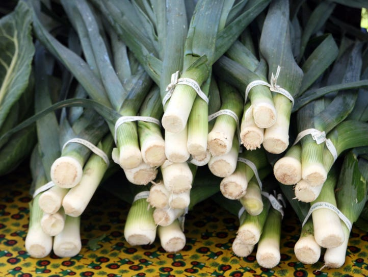 Fresh leeks from the ALBA fields