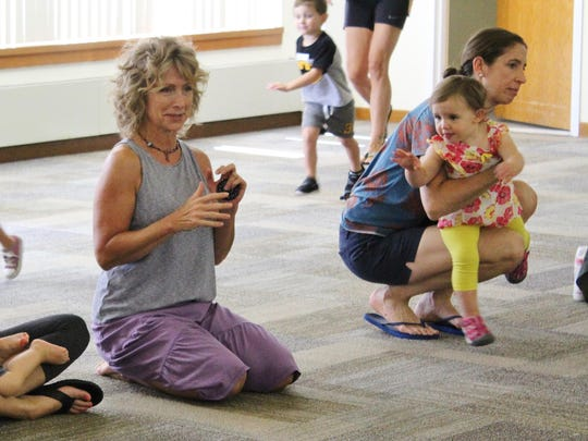 Rosemary Hennessy, director of the Music Together of Galloway program, begins a special class for the Mays Landing library on Friday morning.