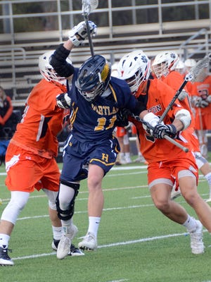 Garnet Potter IV (11) leads Hartland in scoring with 59 goals and 31 assists.