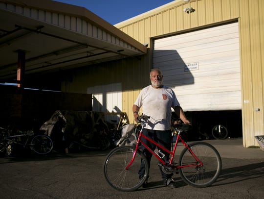 Arthur Morrow, a volunteer at the Rusty Spoke community