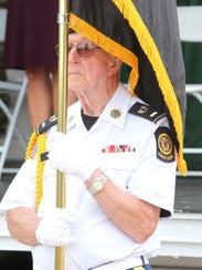Veteran George Cox, with the Hawthorne American Legion