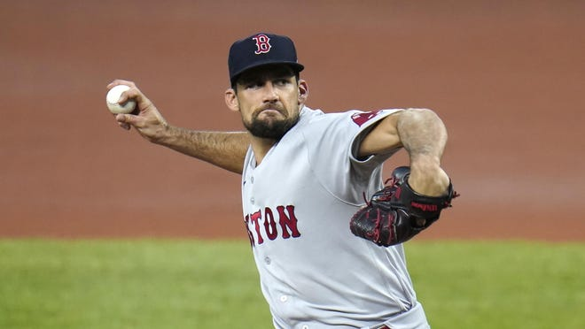 Boston Red Sox starting pitcher Nathan Eovaldi will throw a bullpen session Wednesday in Philadelphia and manager Ron Roenicke is hopeful his ace will be back for the team's series against Tampa.