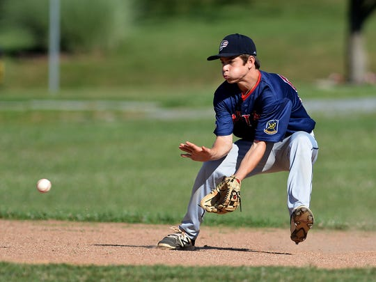 Pleasureville's Ryan Pepler, seen here in a file photo, had three hits, three runs scored and an RBI in a 10-0 win over Southwest York on Wednesday evening.