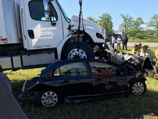 State troopers provided this picture from the scene of a fatal Thruway crash on June 8. Ellen Volpe, of Rochester, was killed in the collision.