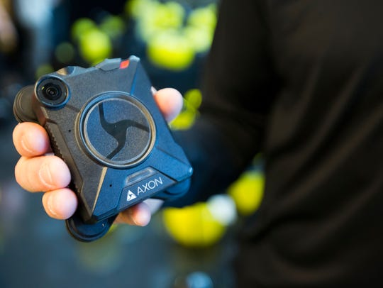 An Axon Body 2 body camera at Axon Enterprise/Taser