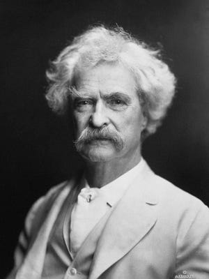 Mark Twain, author (1835-1910) wanted to become a steamboat pilot, but the American Civil War blocked civilian traffic on the river and the end of his training.