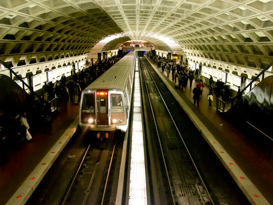 Washington D.C. Subway Metro Station
