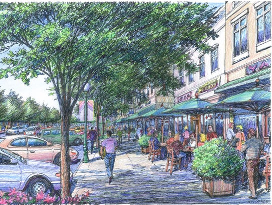 Artist's rendering of Penn National's Towne Center.