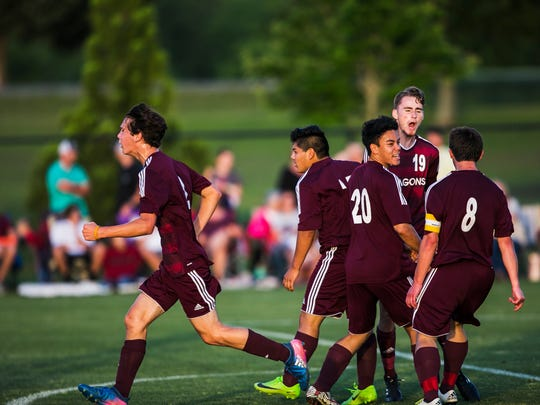 May 23, 2017 - The Collierville High School boys soccer