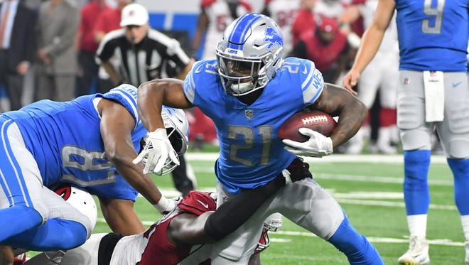 Running back Ameer Abdullah was held to 30 yards on 15 carries in the Lions' season-opening win over the Cardinals.