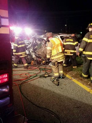 The serious crash injured six people along Del. 40 near New Castle.