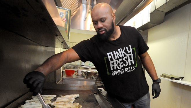 Trueman McGee, founder of Funky Fresh Spring Rolls.