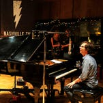 Ben Folds performs during a show at RCA Studio A in Nashville on Sept. 11.