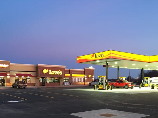 A Love's Travel Stop and Country Store location in New London, Missouri, that opened this month. The average Love's capital expenditure in building travel stops is $11 million. Two are planned for St. Clair County in 2017.