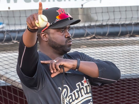 Vince Harrison played for the York Revolution in 2010-11. Harrison is the hitting coach for Advanced-A Visalia (Calif.) Rawhide this season, his third season in the Diamondbacks organization.