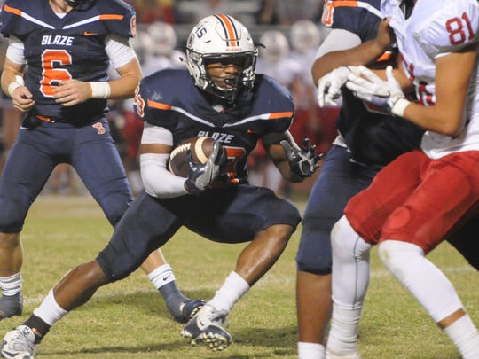 Blackman's Master Teague is the DNJ's Offensive Player of the Year on the 2016 All-Area Football Team.