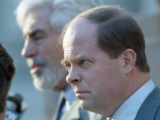 Capano defense attorneys Joseph Oteri, left, and Charles