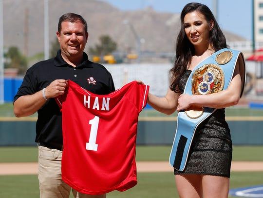 IBF World Featherweight Champion Jennifer Han of El