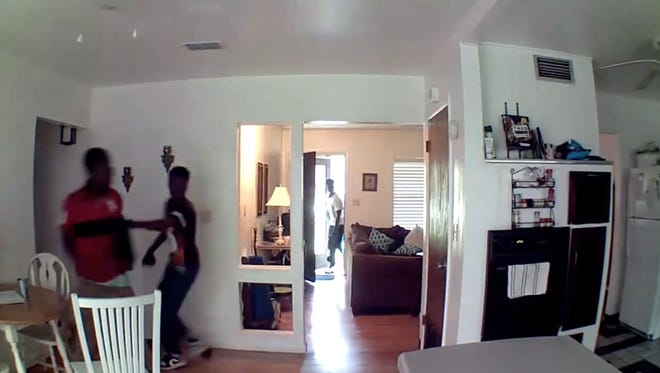 The Leon County Sheriff's Office is searching for four men caught on home surveillance video during a burglary last week.