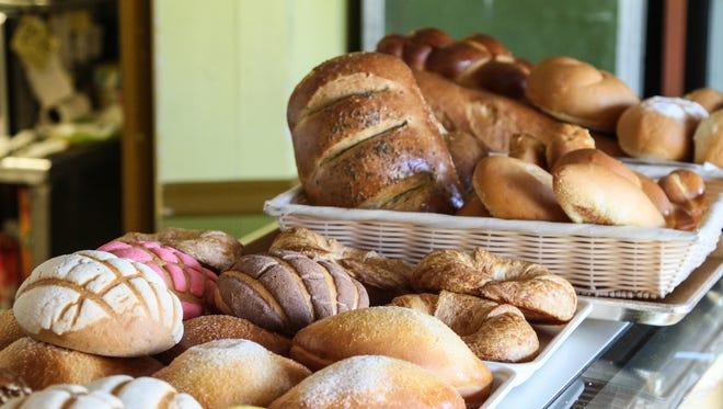 Fresh bread for sale at Bridgewater Bakery.