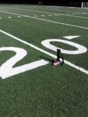 Pfeiffer's cleat after her first game back on the field.