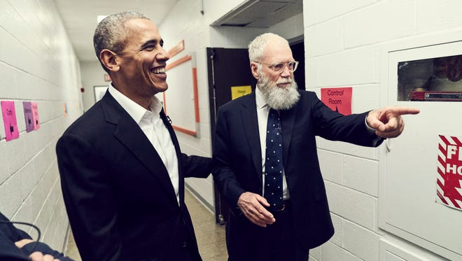 """Former President Barack Obama and David Letterman appear on the premiere of """"My Next Guest Needs No Introduction."""""""