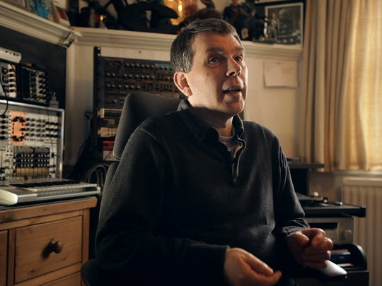 "Chris Carter, one of the founding members of Throbbing Gristle, from the documentary ""Industrial Soundtrack from the Urban Decay."""