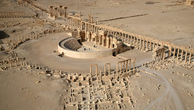 A file picture taken on January 13, 2009 shows a part of the ancient city of Palmyra.