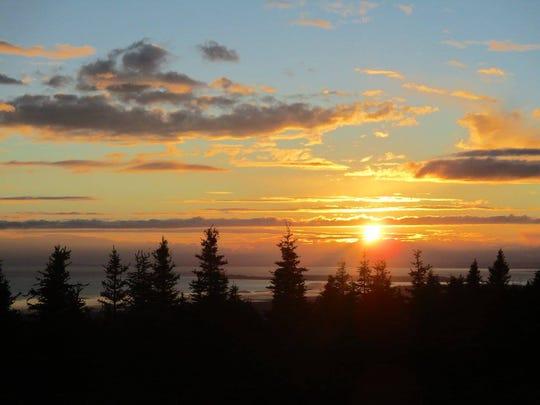 Sunset in Hillside, Anchorage