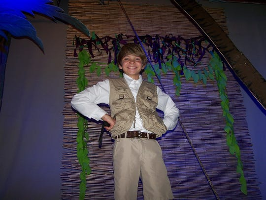 Tyler Connelly plays Young Tarzan in Cultural Park