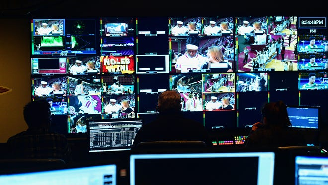 FSU's state-of-the-art control room, located in the Moore Athletic Center.