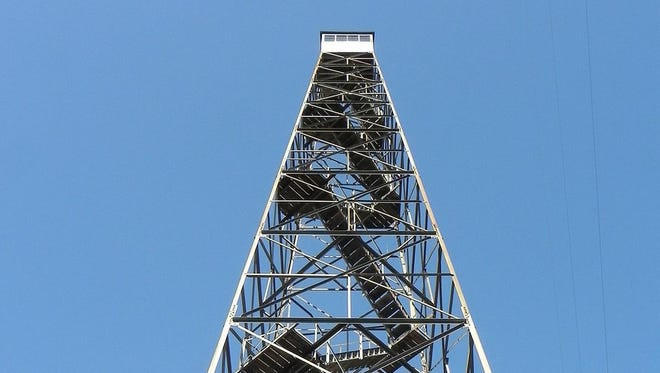 Authorities say a puppy was thrown to its death from this tower in Texas County.