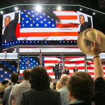 SUCHAT PEDERSON/THE NEWS JOURNALThe national anthem is sung on the first day of the Democratic National Convention at the Wells Fargo Center in Philadelphia on Monday. The singing of the National Anthem on the first day of the Democratic National Convention at the Wells Fargo Center in Philadelphia.