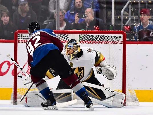 USP NHL: VEGAS GOLDEN KNIGHTS AT COLORADO AVALANCH S HKN COL VGK USA CO