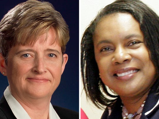 Joanne Winslow, left, and Cynthia Herriott Sullivan are co-chairs of the Unite Rochester justice committee. Sullivan is a former Rochester Police Department lieutenant and Winslow is a state Supreme Court judge.