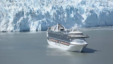 The 3,092-passenger Emerald Princess in Alaska's Glacier Bay National Park.