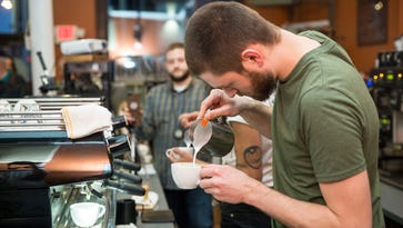 Coffee lovers pack The Caffeinery for latte-based competition