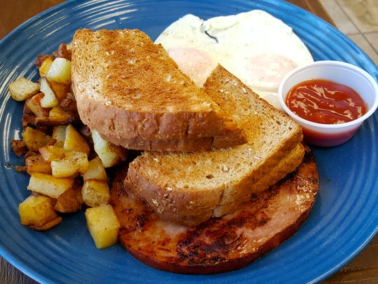 The Classic ($6.50) comes with two eggs, country potatoes, a choice of bacon, sausage or ham and a choice of toast, either sourdough, wheat or marble rye.