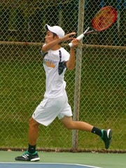 Cresskill senior Chikaya Sato won his third-straight Bergen County Boys Tennis first singles title Sunday at Northern Valley-Old Tappan High School.