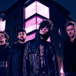 """Matt Healy, third from left, vocalist and guitarist for the 1975, says:  """"We were 13 when we started this band. ...  No matter how many times we were being told no, we just knew in our hearts that this was it."""""""