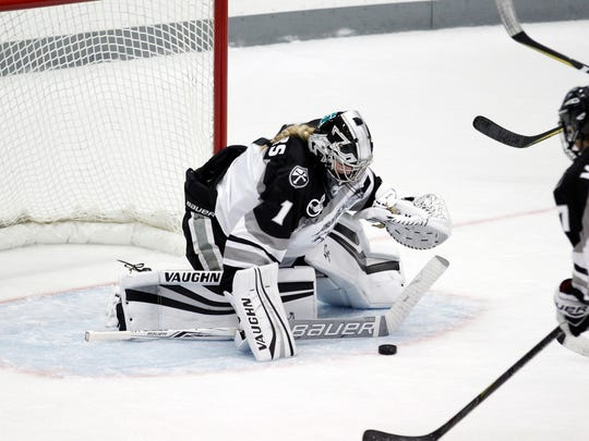 Providence College goalie Madison Myers, the Colchester