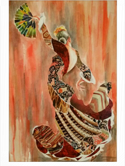 "Marina Brown's ""Dance with Me"" watercolors will e at"