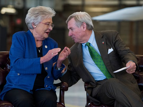 Governor Kay Ivey chats with Montgomery Mayor Todd