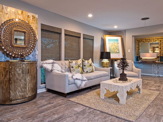 The interior has been meticulously remodeled with a