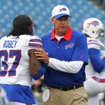 Bills coach Rex Ryan is always heavily involved with his defense.